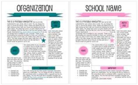College Newsletter Sles 1000 Images About Free Templates On Newsletter Templates Bake Sale Flyer And Bake Sale