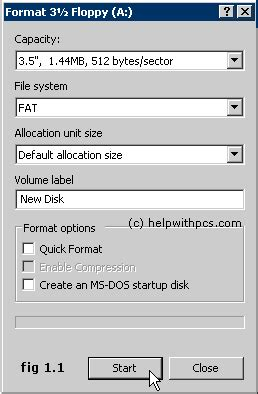 format cd xp how to format a floppy disk in windows xp