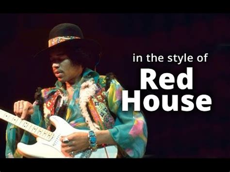 red house jimi hendrix jimi hendrix red house style b slow blues guitar solo backing track jamtrack in b