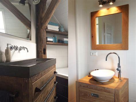 landelijke badkamermeubel tweedehands badkamermeubel hout restylexl op maat gemaakte