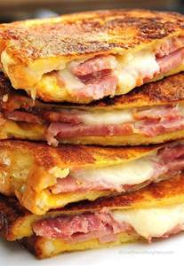 How To Make Bacon In The Toaster Oven Monte Cristo Sandwich Recipe French Toast Monte
