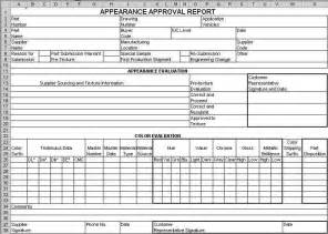 Reliability Test Plan Template by Ppap Forms In Excel Compatible With Aiag 4th Ed