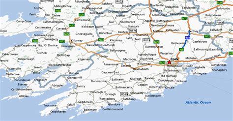 county cork ireland map cork bed and breakfasts b b cork