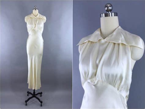 Vintage Wedding Dresses 1930s by Vintage 1930s Wedding Dress 30s Bias Cut Dress 1930