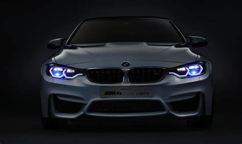 bmw m4 headlights bmw m4 concept iconic lights debuts with laser lights at