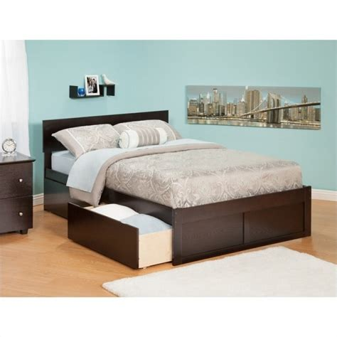 atlantic furniture orlando bed with drawers in espresso