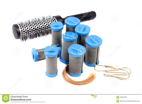 Twist Hairstyle Tools Clipart No Background by Styling Tools For Curly Hairstyle Stock Photo Image