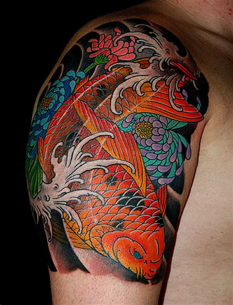 japanese koi fish tattoo discussing about water designs traditional