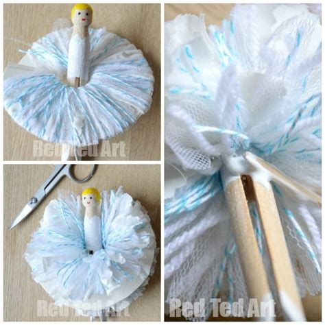 pom pom dolly peg fairies angel tutorials