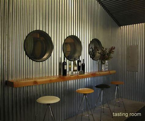 corrugated aluminum wall panels inside warehouse