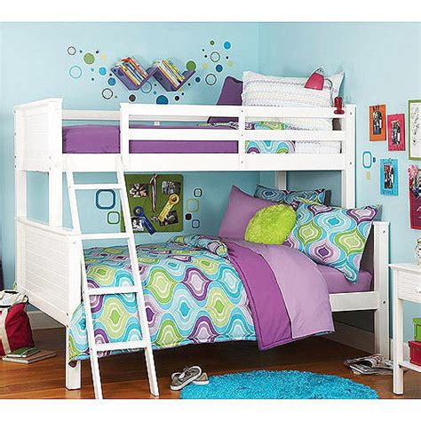 walmart white bunk beds your zone twin over full bunk bed white kids teen rooms