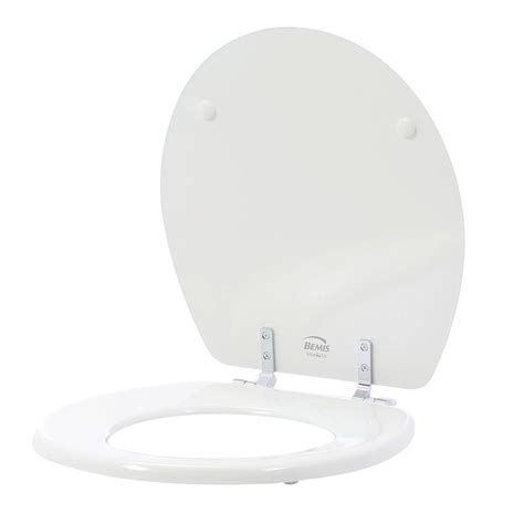 bemis bathroom products bemis sta tite round closed front toilet seat in white