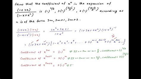 x r n find the coefficient of x n in expansion of 1 2x 1 x x