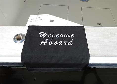 Custom Boat Mats by Sunbrella Boat Mat Welcome Aboard Boarding Mat For Boat