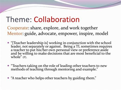 leading together teachers and administrators improving student outcomes books ppt the perceptions of principals teachers related to
