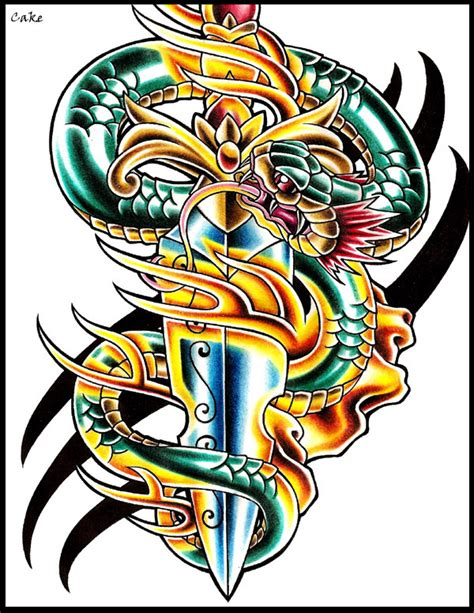 snake and dagger tattoo design the world s catalog of ideas