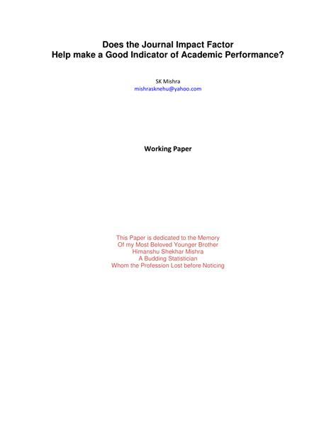 journal impact factor    good