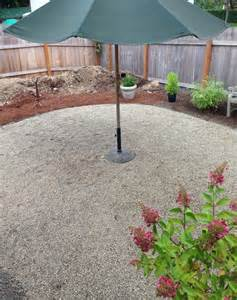 progress on a fall backyard project the pea gravel patio the inspired room