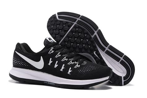 black and white athletic shoes men s nike zoom pegasus 33 black and white running shoe