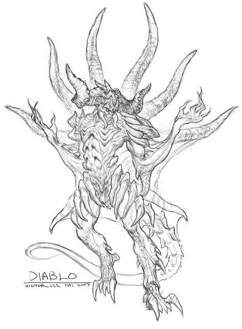 Diablo 3 Sketches by Diablo Sketch From Diablo Iii Diablo Creatures