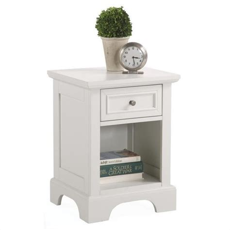 L For Nightstand 1 Drawer Nightstand In White 5530 42