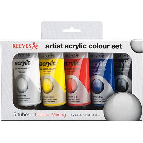 reeves basic color acrylic paint set 5pk walmart