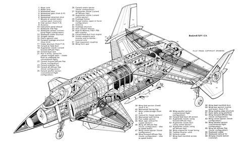 F E 1j C 3 D9 De Rockwell Xfv 12a Cutaway X Aircraft
