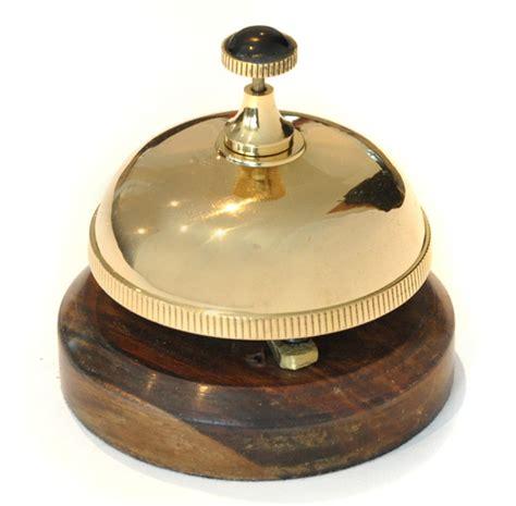 Desk Bell brass desk bell with wooden base garden bells brass bells cast iron bells garden bell