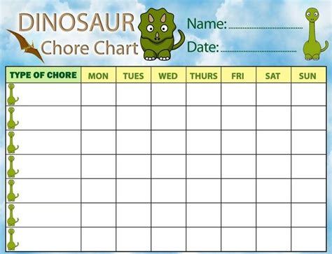 printable toddler charts free printable chore charts for boys world of printable