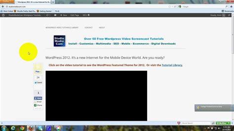 wordpress homepage tutorial static homepage wordpress twenty twelve theme