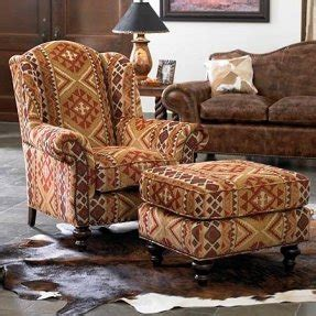 southwestern chairs and ottomans southwestern living room furniture foter