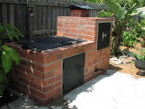 diy pit construction a outdoor brick smoker construction and diy projects