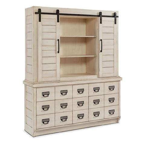 white barn door buffet winfrey hutch distressed black cabinet