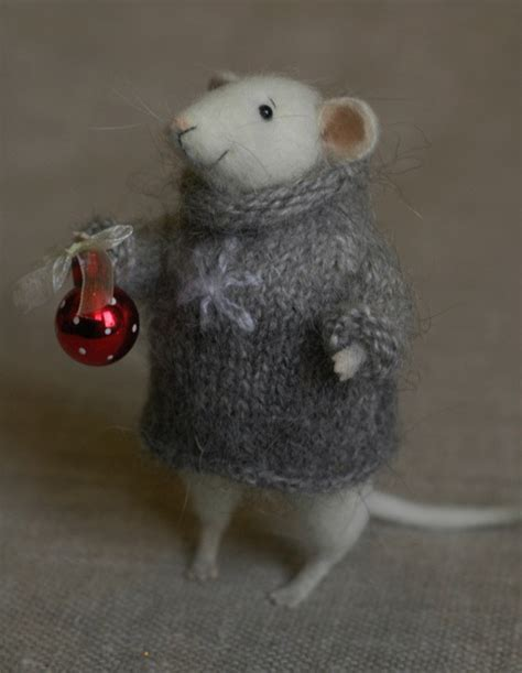 images of christmas mice stuffed animals by natasha fadeeva mouse with a