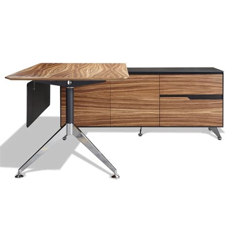 office furniture desk and credenza trondheim modern zebrano desk right credenza eurway