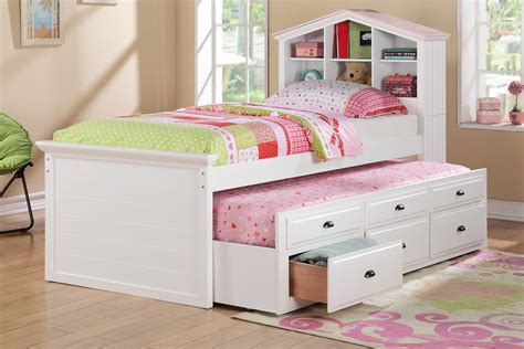 girls bed with drawers girls trundle beds with storage drawers girls trundle bed