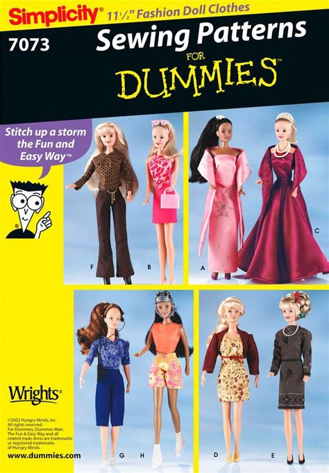 vogue pattern company history dating simplicity 7073 11 189 fashion doll clothes pattern for