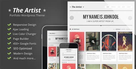 themes wordpress artist the artist clean responsive portfolio theme by
