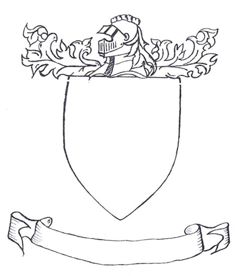 family crest template the gallery for gt blank coat of arms template with banner