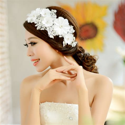 vintage flower wedding hair accessories free shipping fashion bridal vintage lace flower hair