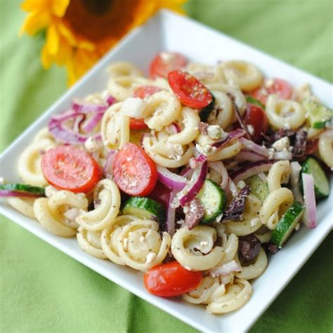 greek pasta salad greek pasta salad three many cooks