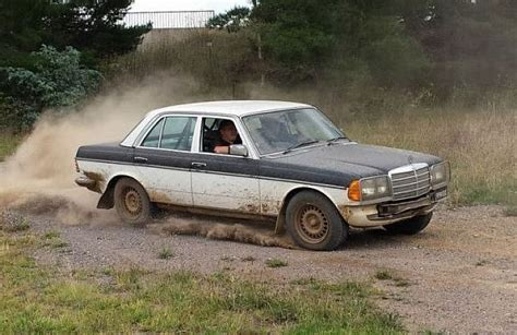 mercedes rally australian repair shop preps mercedes 280e for rally from