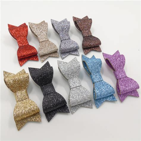 aliexpress buy 10pcs lot synthetic leather hair fashion grips faux leather bow knot