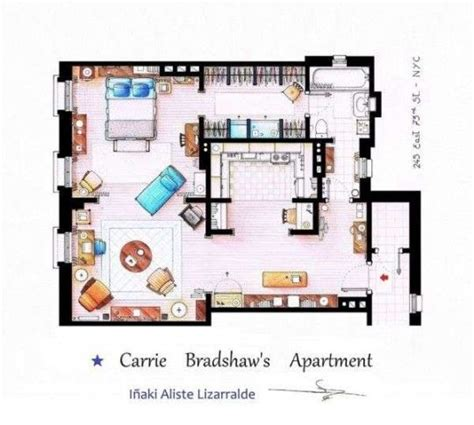 carrie bradshaw apartment floor plan pin by zarina tapia on bedroom pinterest