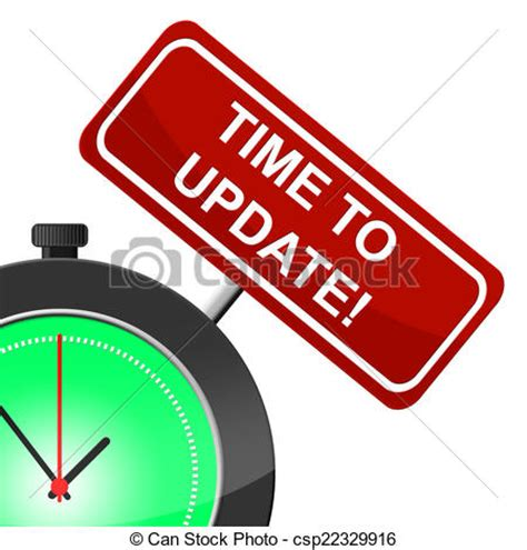 Time To Upgrade by Clipart Of Time To Update Means Modernize Improved And