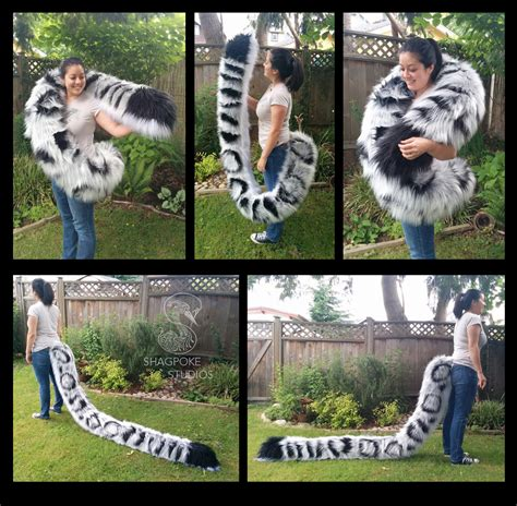 8 foot long 8 foot long snow leopard tail by shagpoke fur affinity