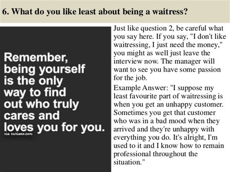 top 10 waiter and waitress questions and answers