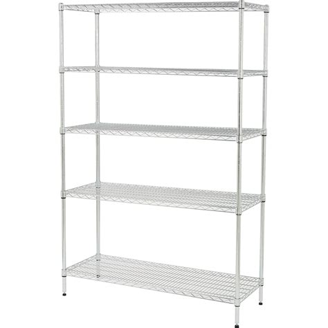 strongway heavy duty wire shelving system 5 shelves 800