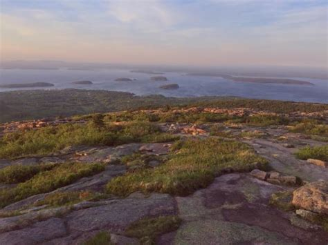 cadillac mountain time foggy sunset picture of cadillac mountain acadia