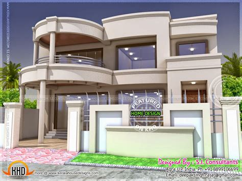 three floor house design india stylish indian home design and free floor plan kerala home design and floor plans